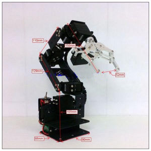 6 Dof Rotating Machinery Mechanical Robot Structure Full Set Kit Mechanical Arm pictures & photos