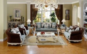 American Classical Fabric Sofa Living Room Furniture Set pictures & photos