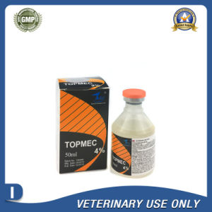 Veterinary Drugs of 4% Ivermectin Injection (10ml/50ml/100ml) pictures & photos