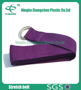 D Ring Eco-Friendly Anti-Slip Cotton Yoga Strap pictures & photos