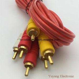 3RCA/3r Plug/Jack to 3RCA/3r Plug/Jack AV/DVD/TV/Audio/Media Cable (3R-3R) pictures & photos