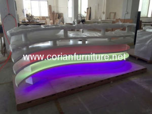 LED Light 7 Color Changed Night Club Reception Desk pictures & photos