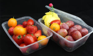 Reusable Eco-Friendly Microwavable PP Rectangular Plastic Food Storage Container pictures & photos