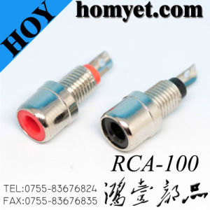 Solder Type RCA Socket RCA Connector with Thread pictures & photos