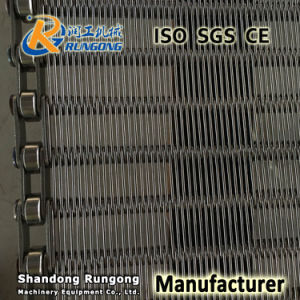 Non Distortion Stainless Steel Eye Link Metal Conveyor Wire Mesh Belt for Sweets Candy pictures & photos