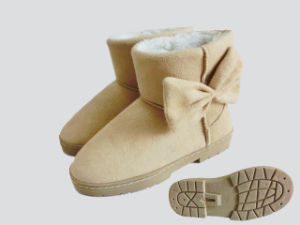 Kids Lovely Warm Soft Outdoor Snow Boots with Bowknot pictures & photos