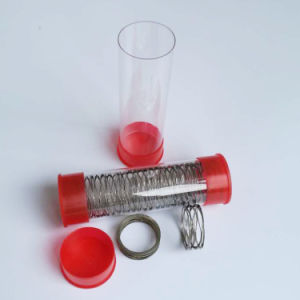 Clear Packaging Plastic Tube Whit Caps pictures & photos
