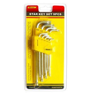 OEM DIY 9PCS Cr-V Steel Wrench Torx Key Star Key Set pictures & photos