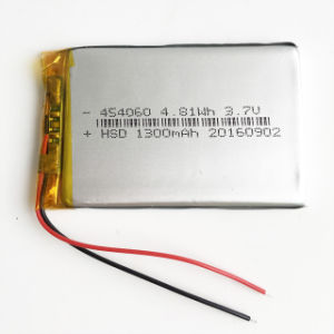 3.7V 1300mAh 454060 Lithium Polymer Li-Po Rechargeable Battery for MP4 GPS PSP DVD Mobile Phone Video Game Pad E-Books Tablet PC pictures & photos