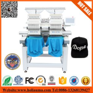 Double Heads Commercial 15 Colors Computer Embroidery Machine High Speed Sewing Machine Cheap Price Flat/Cap Embroidery Machine pictures & photos