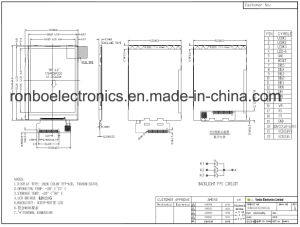 "2.2"" 176X220 MCU 8bit 22pin TFT LCD Screen for POS, Doorbell, Medical pictures & photos"