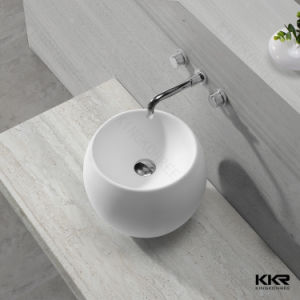 Italian Small Stone Solid Surface Stone Dining Room Wash Basin pictures & photos