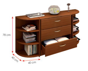 Wooden Wardrobe /Nightstands /Shoes Case /Side Cabinet (HX-DR333) pictures & photos