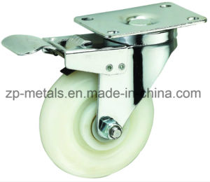 3inch White PP Caster Wheel with Brake pictures & photos