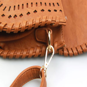 Ladies Elegent PU laser Cut Handbag Korea Style Handbag pictures & photos