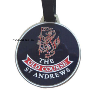 St Andrews Luggage Tag with PVC Leather