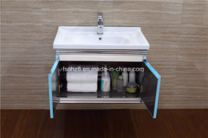 Unique Hot Sales Stainless Steel furniture Bathroom Vanity Cabinet (T-085) pictures & photos