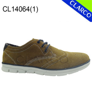 Men Casual Leather Sneaker Loafter Shoes pictures & photos