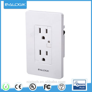 Z-Wave Plus Wireless Wall Socket Outlet, Built-in Power Meter pictures & photos