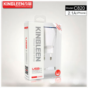 Kingleen ′c820 Intellgent Direct Charger for iPhone 5V-2.1A High Quality Charger Export to Europe pictures & photos
