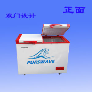 Purswave Wrf-188 188L DC Solar Chest Freezer 12V24V220V110V Refrigerator Double Temperature Powered by Solar Panel and Battery -20degree 0~10degree pictures & photos