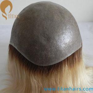Custom Hair Systems Thin Skin Indian Remy Hair Toupee