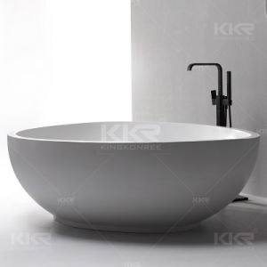 Wholesale Artificial Stone Freestanding Round Bathtub pictures & photos