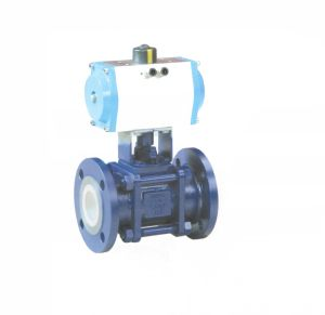 3 PCS Ceramic Lined Pneumatic Floating Ball Valve (GQ641TC) pictures & photos