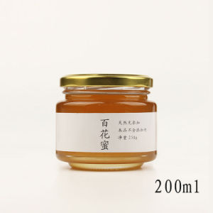 100ml 200ml Round Preserve Honey Glass Jars for Food, Pickle, Jam Jar/Bottle, Spice Jar, pictures & photos