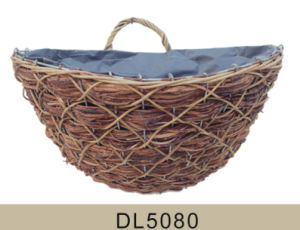 Rattan Wall Haning Flower Basket for Home and Garden Decoration pictures & photos