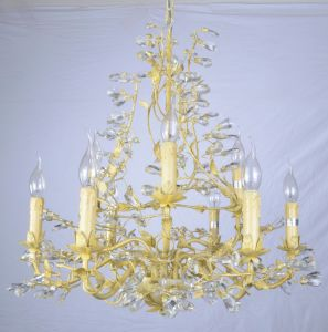 Factory Top Sale Golden Foiled Elegant Chandelier with UL pictures & photos