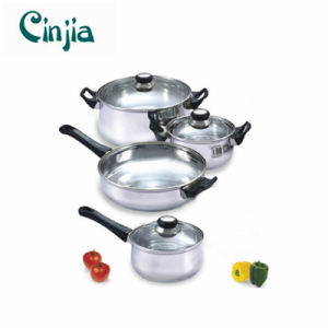 Home Basics Cooking 7 Piece Stainless Steel Cookware Set pictures & photos