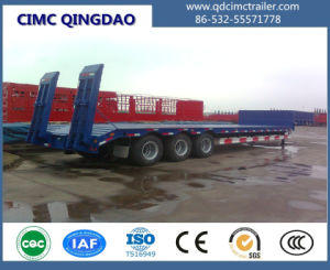 3 Axles 13m Length 60tons Gooseneck Lowbed Semi Trailer pictures & photos