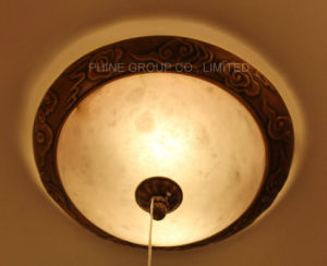 Round Spanish Marble Ceiling Lamp with Certification for Interior Use pictures & photos