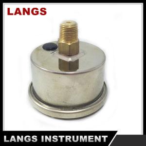 014 40mm Center Back Brass Internal Liquid Filled Pressure Gauge pictures & photos