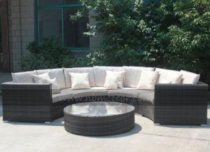 Mtc-125 Popular Semicircle Rattan Outdoor Sofa Set Garden Sofa Patio Wicker Sofa Set pictures & photos