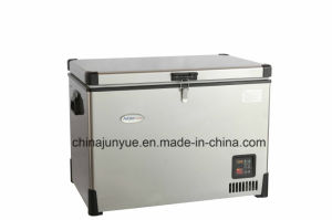 Bd/Bc-64L 12/24V DC Stainless Steel Chest Freezer Curved Bottom pictures & photos