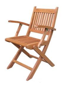 Outdoor Wooden Folding Garden Backrest Armrest Chair pictures & photos