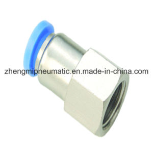 Pneumatic Air Fitting Female Straight for PU&PA Hose (Metric Size-R(PT) Thread Type) pictures & photos
