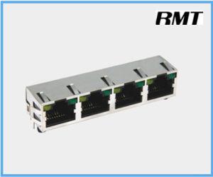 RJ45 Connector (RMT-56-3256S-LED4P) pictures & photos