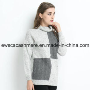 Turtle Neck Women Pure Cashmere Sweater with DOT Yarn pictures & photos