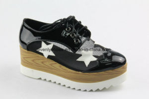 Platform Design PU + Mesh Upper Lady Fashion Shoes pictures & photos