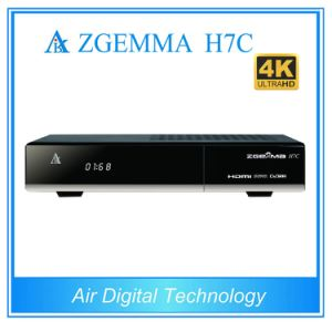 New 4k Uhd Multistream Satellite Receiver Zgemma H7c with Bcm7251s DVB-S2/S2X + 2*DVB-T2/C Three Tuners Set Top Box pictures & photos