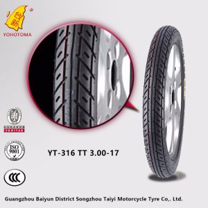White Wall Motorcycle Tires with Perfect Pattern Tt 3-17 Yt259 pictures & photos