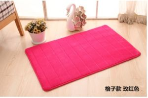 Coral Fleece Mat with Anti Slip Backing pictures & photos