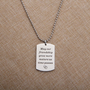 Couples Custom Stainless Steel Personalized Jewelry Fashion Square Pendant pictures & photos