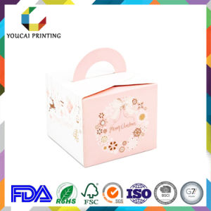 High Quality Paper Cake Box with Handle pictures & photos