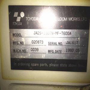 Good Condition Second-Hand Toyota600 190cm Air Jet Loom Machinery pictures & photos