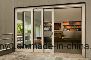 Commercial Buildings Double Glass Aluminum Sliding Door with Australian pictures & photos