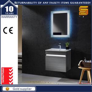 Black Painted Mixed Melamine Floor Mounted Bathroom Vanity pictures & photos